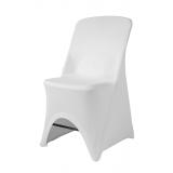 SLIMTEX LUX/C Pokrowiec elastyczny na krzesło 380g biały