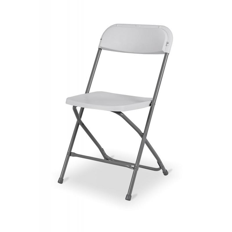 Krzesło składane cateringowe POLY 7 białe
