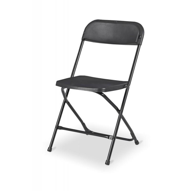 Krzesło składane cateringowe POLY 7 czarne