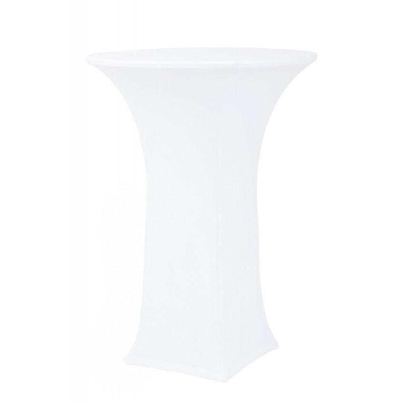 FLEX 240 K/C Pokrowiec elastyczny na stół koktajlowy biał